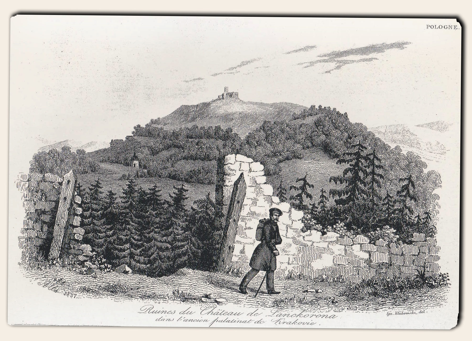 Widok na górę Lanckorońską